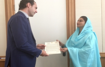 Food Processing Minister, Mrs. Harsimrat Kaur Badal, visits the Netherlands to promote World Food India 2017
