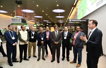 """Chief Minister of Himachal Pradesh Jai Ram Thakur visited the Netherlands from June 13-14, 2019 to promote """"Rising Himachal"""", Global Investors' Meet taking place from November 7-8, 2019 at Dharamshala, Himachal Pradesh. A delegation comprising State Industries Minister Bikram Singh and senior officials of the State Government as well as select companies from Himachal Pradesh accompanied the Chief Minister.The CM and his delegation visited the prestigious GreenTech Exhibition at Amsterdam and interacted with horticulture companies and experts from around the world."""