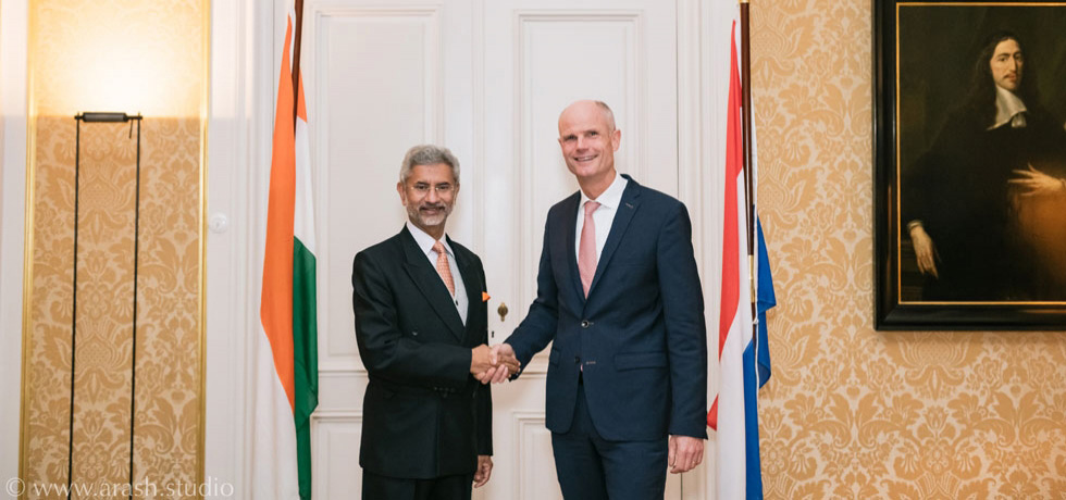 External Affairs Minister Dr. S. Jaishankar with the Dutch Foreign Minister Stef Blok during his visit to the Netherlands November 9-11, 2019