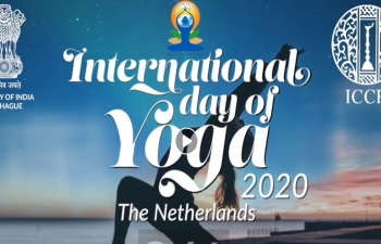 International Yoga Day 2020 online celebrations with participation by the Dutch Army and Police and a host of Dutch and Indian Celebrities.