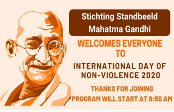 Dutch Minister of Justice and Security Ferdinand Grapperhaus and Mayor of The Hague Jan van Zanen participated in Gandhi Jayanti Online Celebrations in The Hague - October 2, 2020